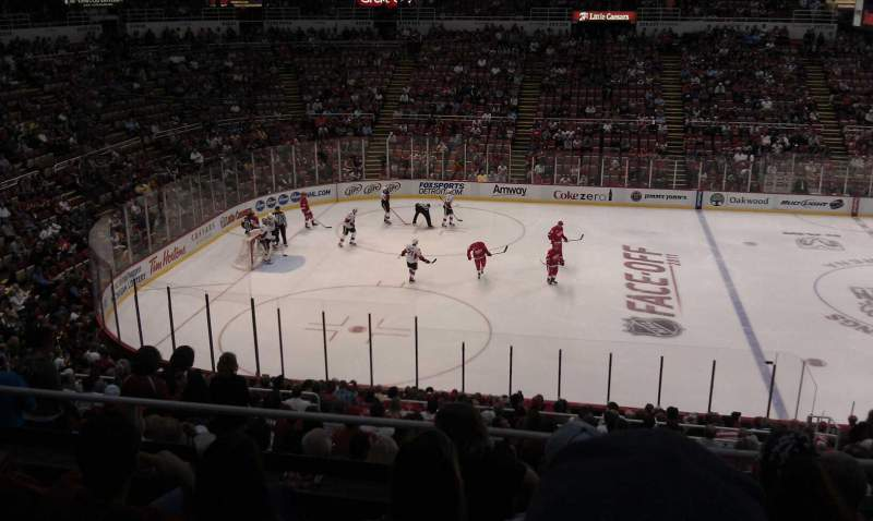 Seating view for Joe Louis Arena Section 223 Row 5 Seat 8
