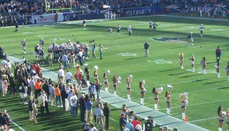 Seating view for Gillette Stadium Section 102 Row 34