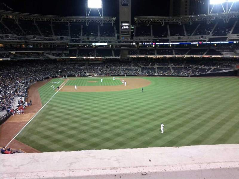 Seating view for PETCO Park Section 227 Row 1 Seat 3