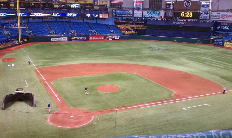 Seating view for Tropicana Field Section 306 Row A Seat 2