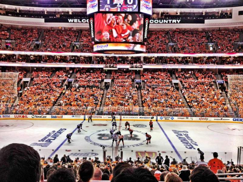 hot sale online 80d00 1b880 Wells Fargo Center, section Club Box 1, row 4, seat 9 ...