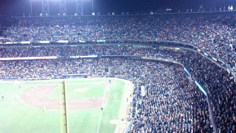 Seating view for AT&T Park Section 335 Row 18 Seat 20