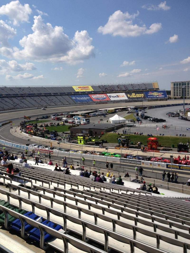 Seating view for Dover International Speedway Section 107 Row 45 Seat 8