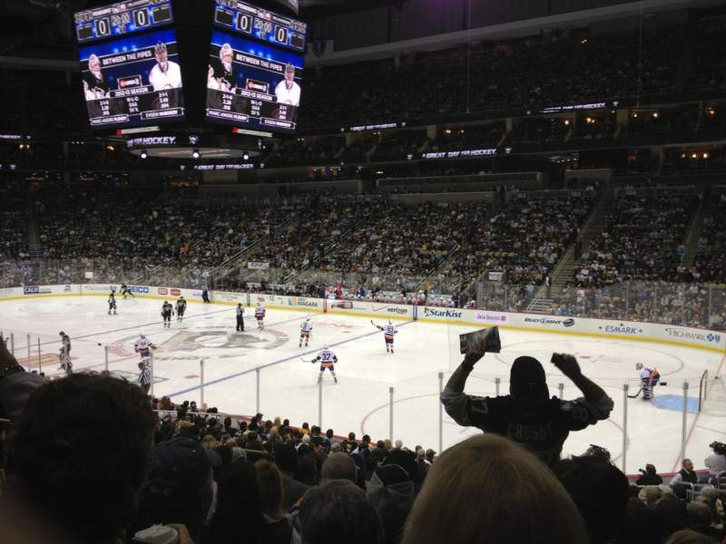 Ppg paints arena section 110 row v seat 10 pittsburgh for Hotels close to ppg paints arena