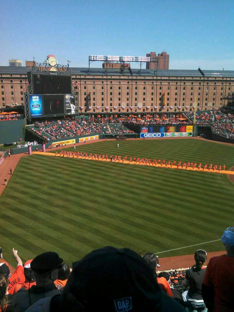 Seating view for Oriole Park at Camden Yards Section 368 Row 8 Seat 14