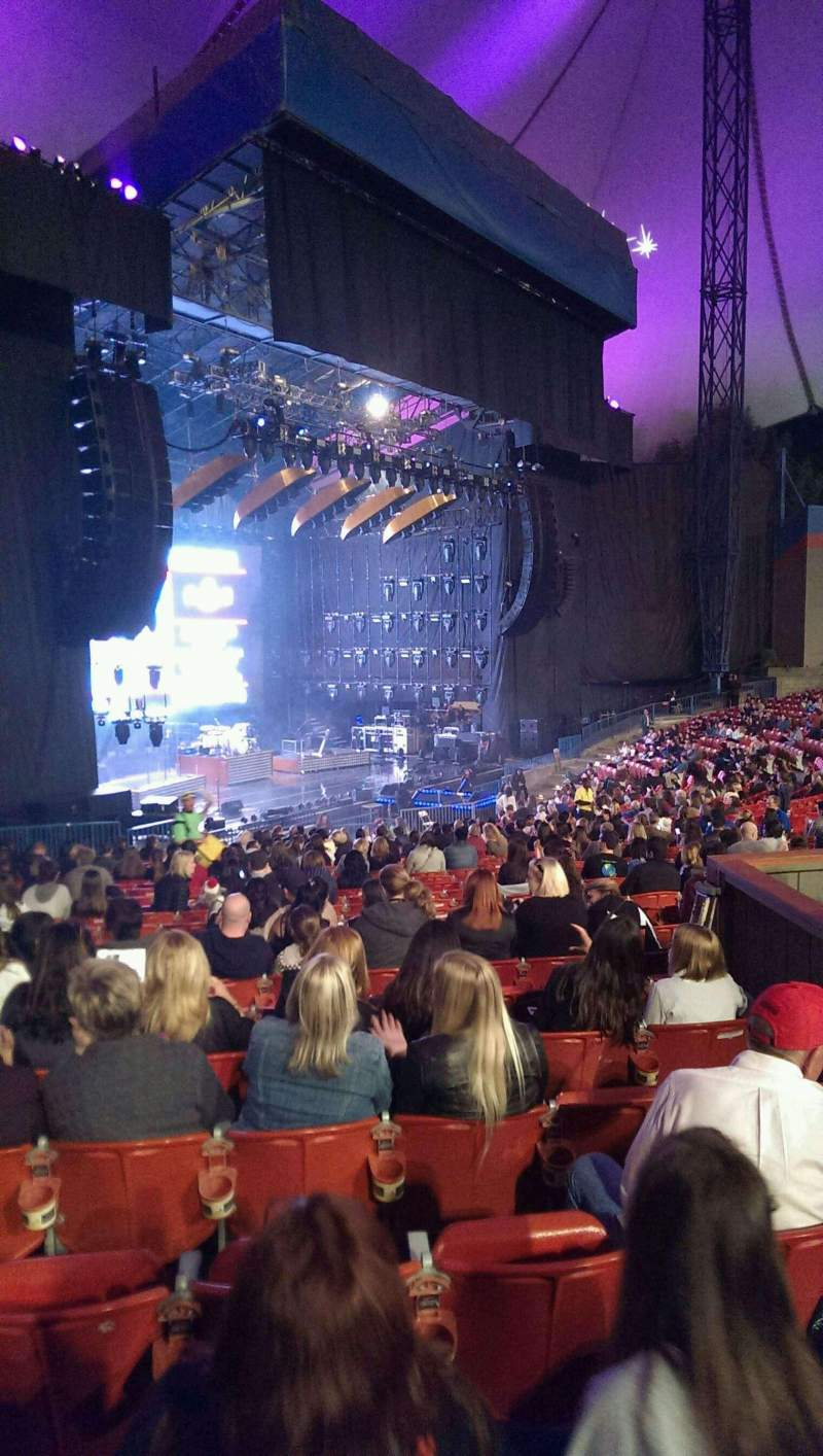 Seating view for Shoreline Amphitheatre Section 103 Row z Seat 31