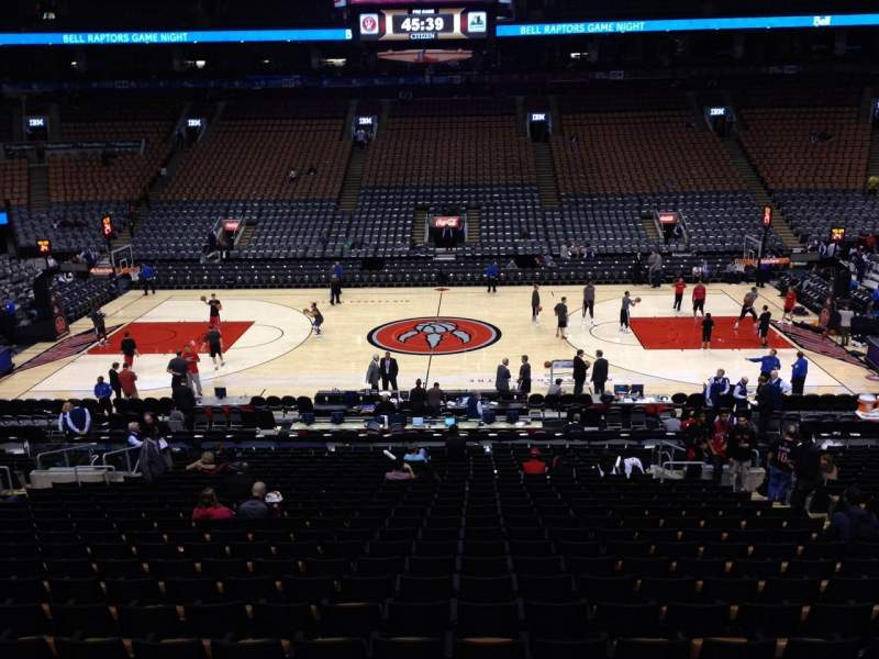 Seating view for Air Canada Centre Section 119 Row 25 Seat 7