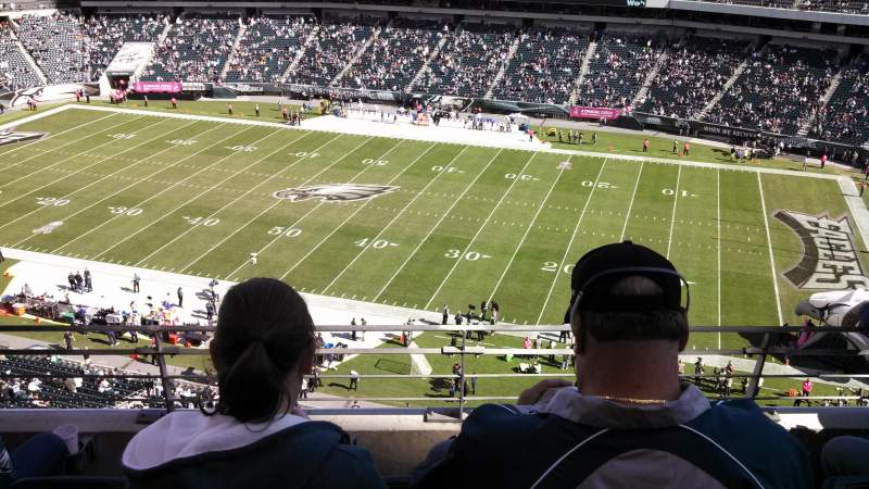 Seating view for Lincoln Financial Field Section 204 Row 4 Seat 17
