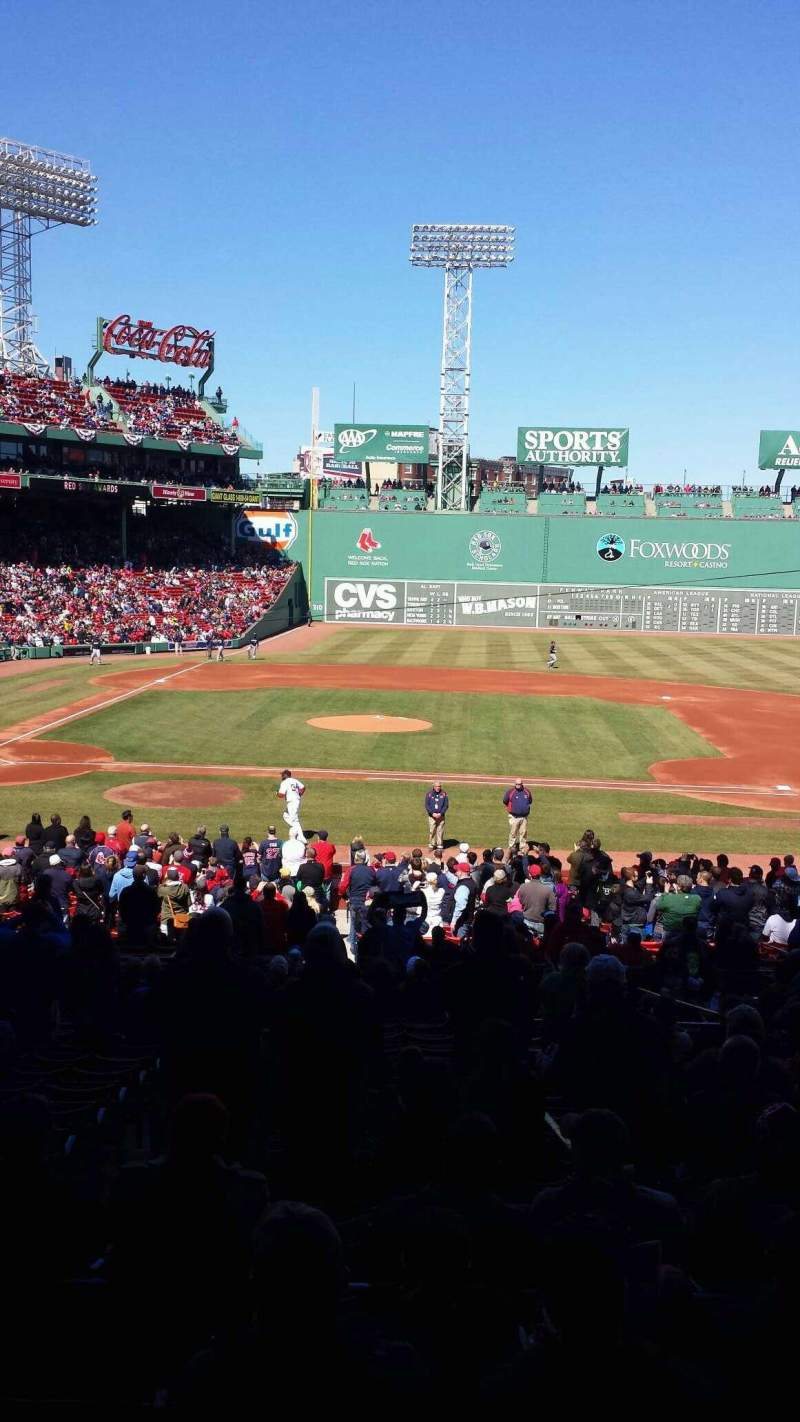 Seating view for Fenway Park Section Grandstand 16 Row 6 Seat 8