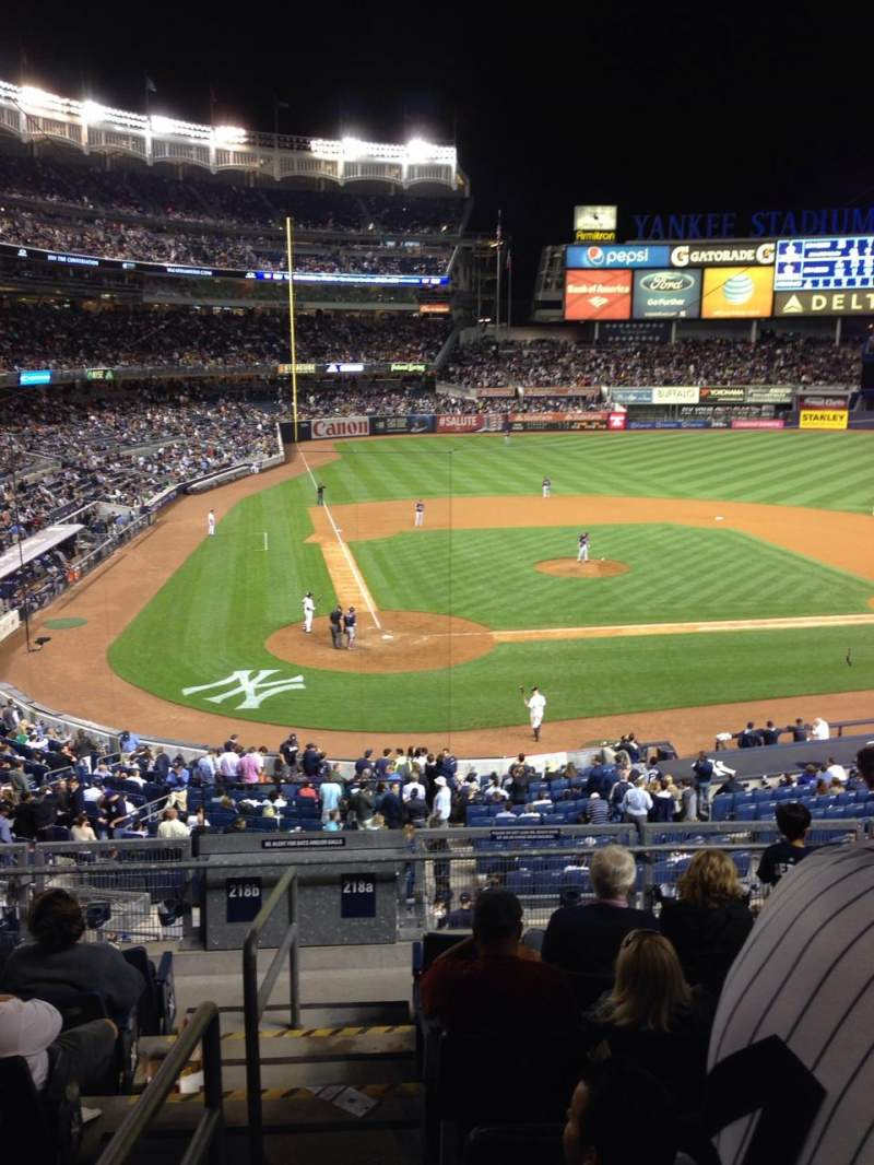 Seating view for Yankee Stadium Section 218a Row 8 Seat 13