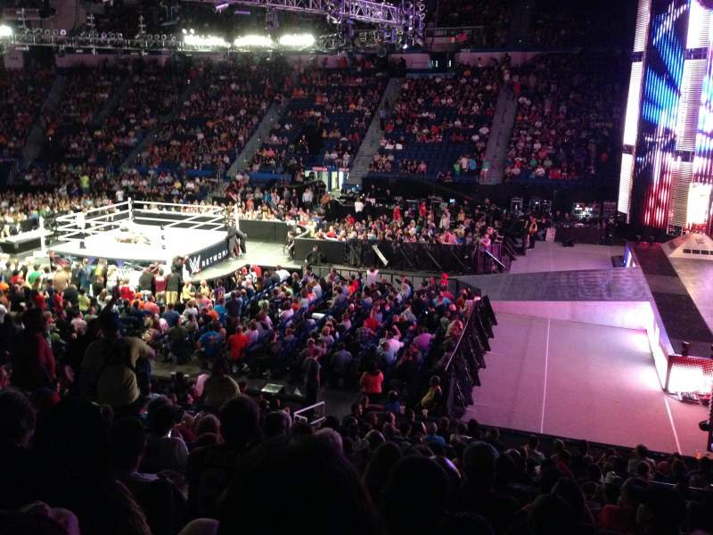 Xl Center Section 114 Row T Seat 14 Wwe Monday Night