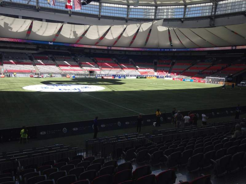Seating view for BC Place Section 342 Row L Seat 106