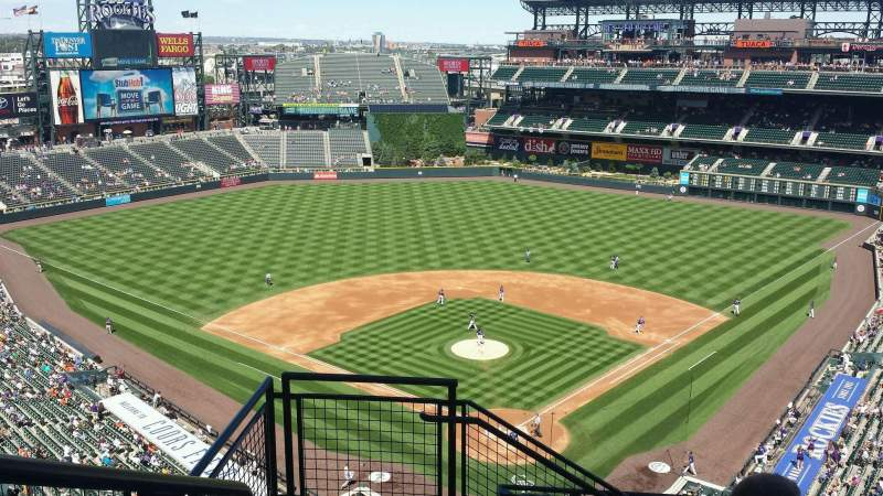 Seating view for Coors Field Section U331 Row 13 Seat 18