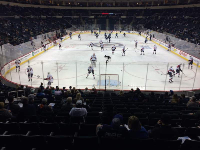 Seating view for Bell MTS Place Section 112 Row 16 Seat 11