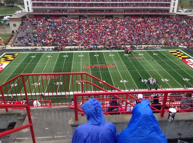 Seating view for Maryland Stadium Section 306 Row L Seat 1