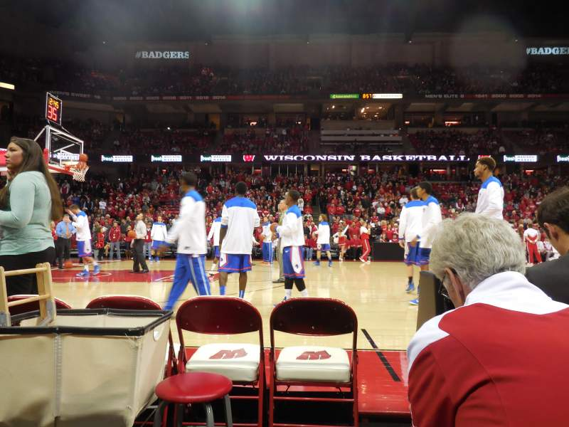 Seating view for Kohl Center Section 123 Row bb Seat 1-2