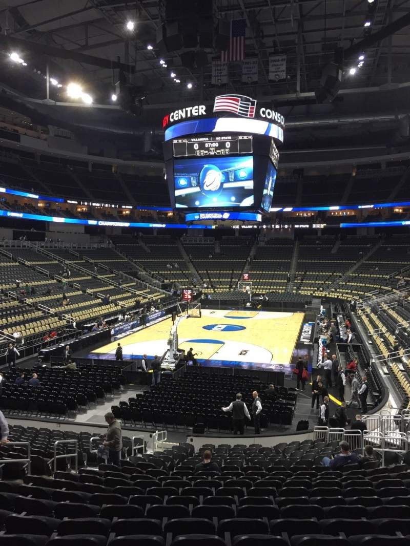 Ppg paints arena section 106 row u seat 15 ncaa for Hotels close to ppg paints arena