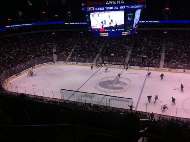 Seating view for Rogers Arena Section 307 Row 12 Seat 1