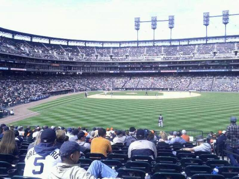 Seating view for Comerica Park Section 105 Row H Seat 3