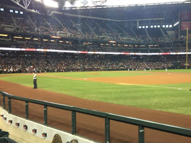 Seating view for Chase Field Section A Row C Seat 12