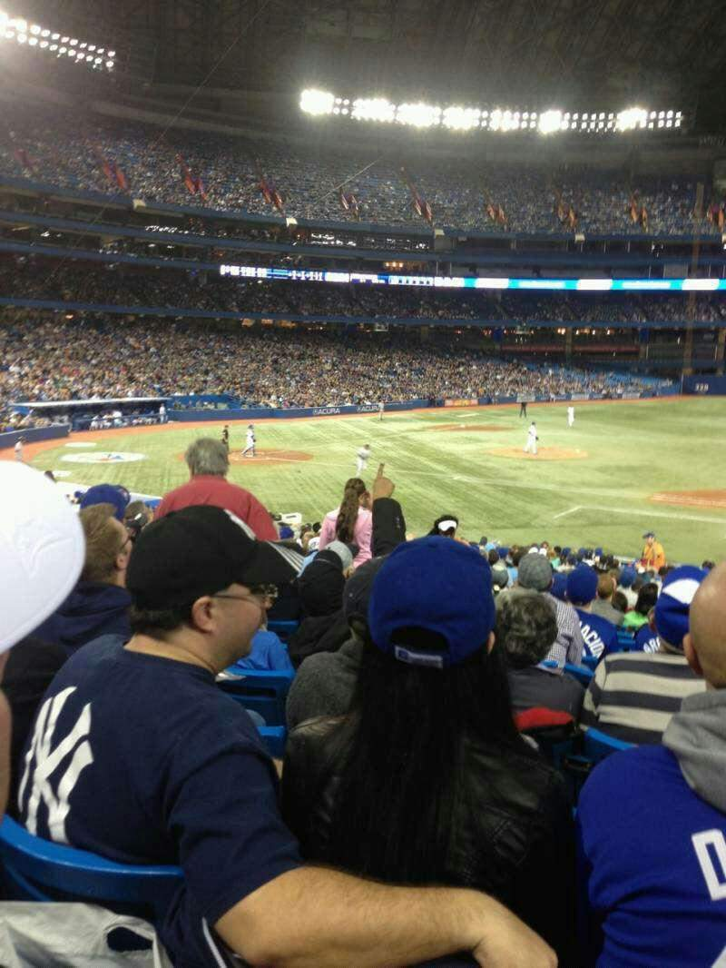 Seating view for Rogers Centre Section 116R Row 26 Seat 2