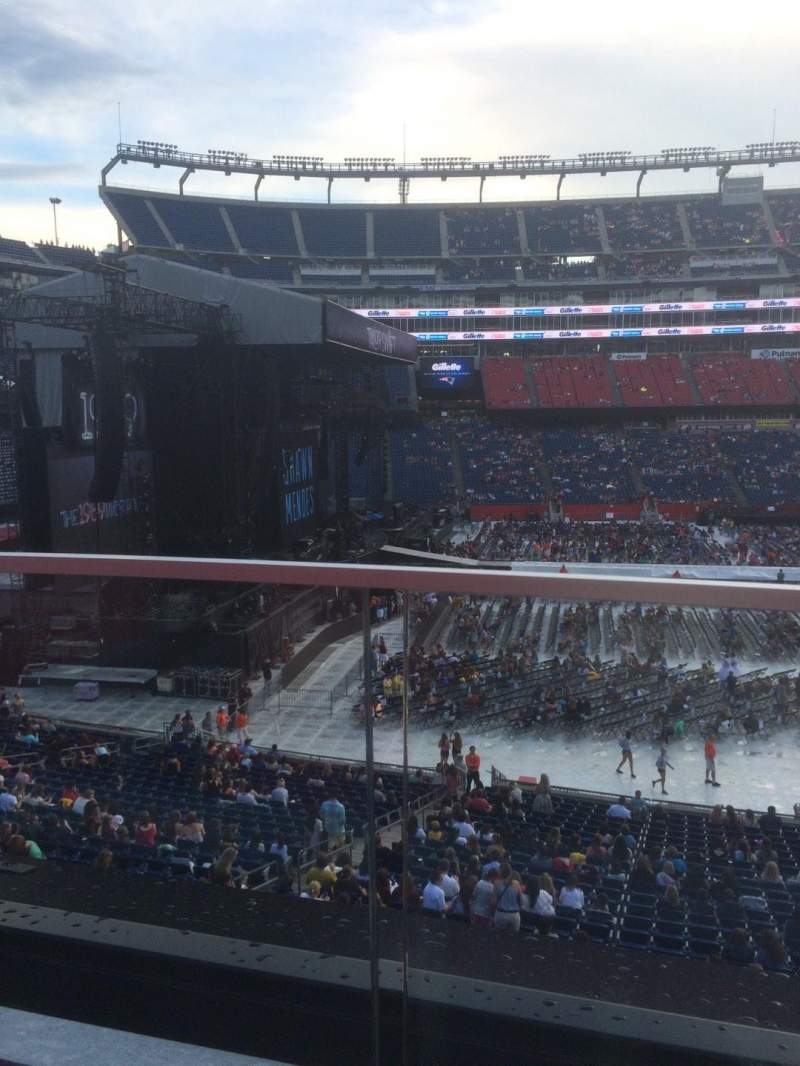 Seating view for Gillette Stadium Section CL12 Row 1 Seat 8