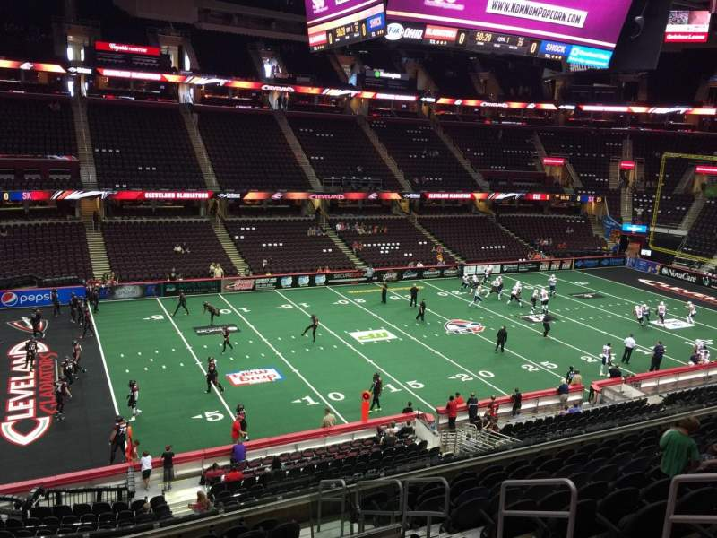 Quicken Loans Arena, section: 123, row: 26, seat: 18
