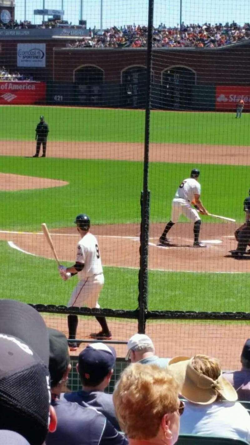 AT&T Park, section: 117, row: m, seat: 15