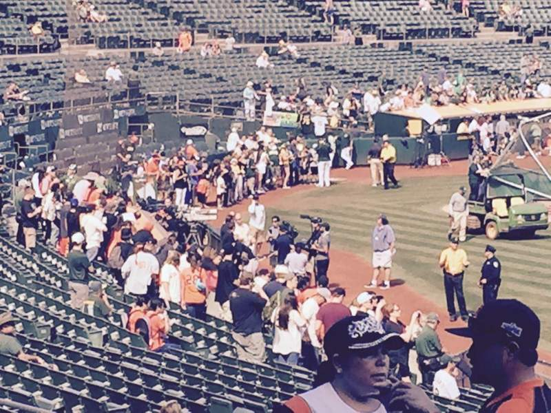 Seating view for Oakland Alameda Coliseum Section 109 Row 31 Seat 1