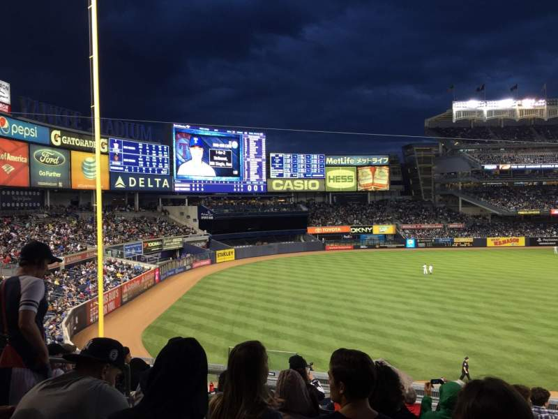 Seating view for Yankee Stadium Section 229 Row 9 Seat 13
