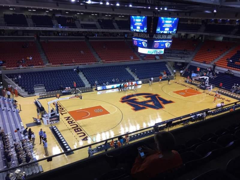 Auburn Arena Section 215 Row 28 Seat 22 Auburn Tigers