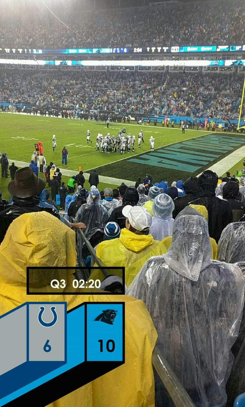 Seating view for Bank of America Stadium Section 106 Row 16 Seat 11