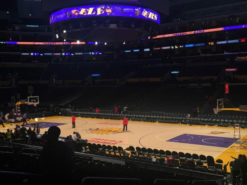 Seating view for Staples Center Section 118 Row 18 Seat 12