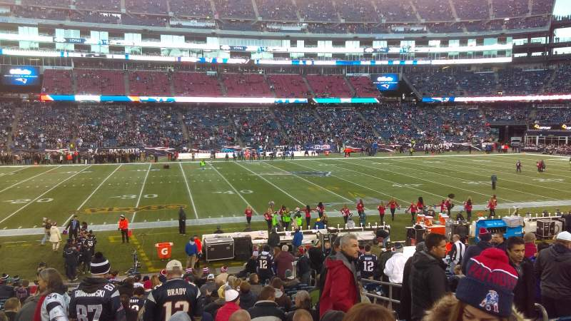 Gillette Stadium, section: 133, row: 21, seat: 7
