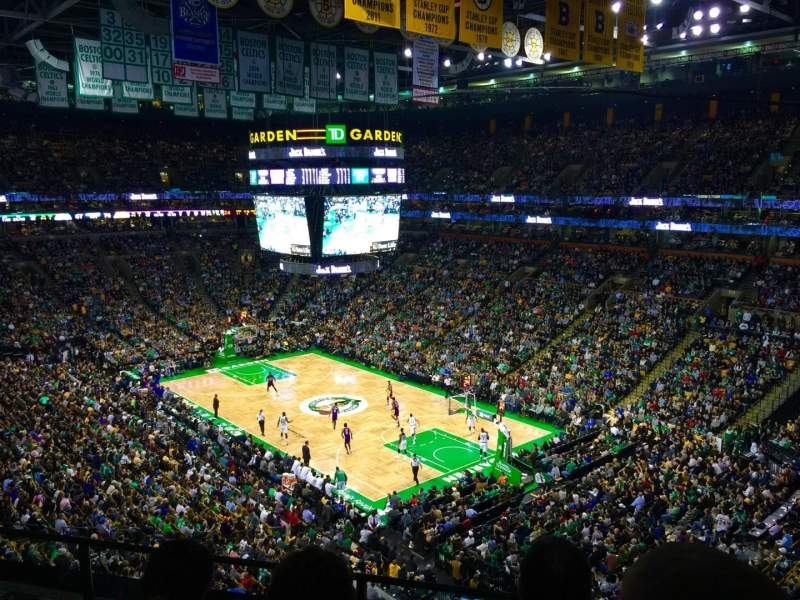 Td Garden Section Bal 327 Row 3 Seat 1 Boston Celtics Vs Los Angeles Lakers Shared Anonymously