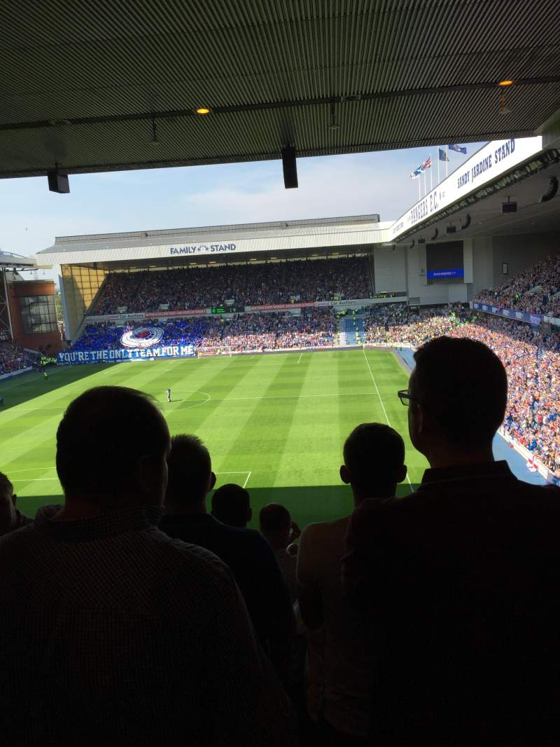 Seating view for Ibrox Park Section Copland rear Row S Seat 0021