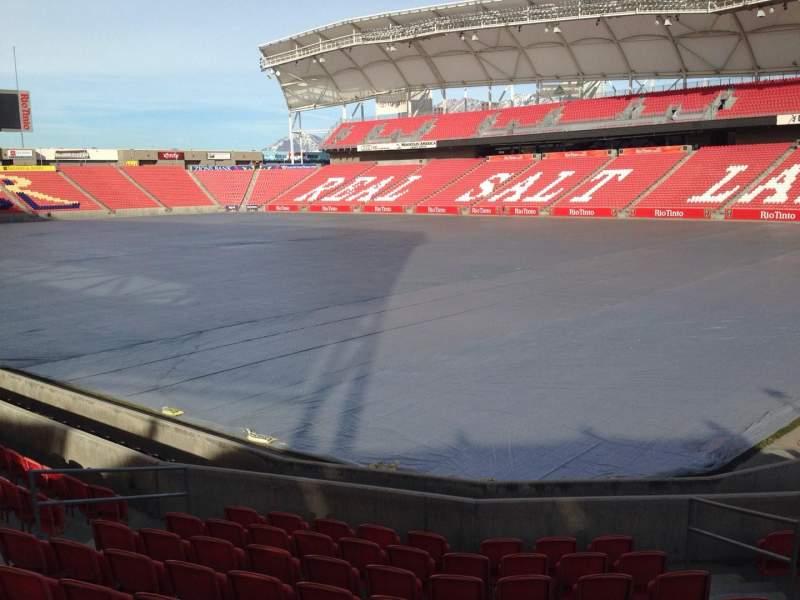 Seating view for Rio Tinto Stadium Section 14 Row p Seat 10