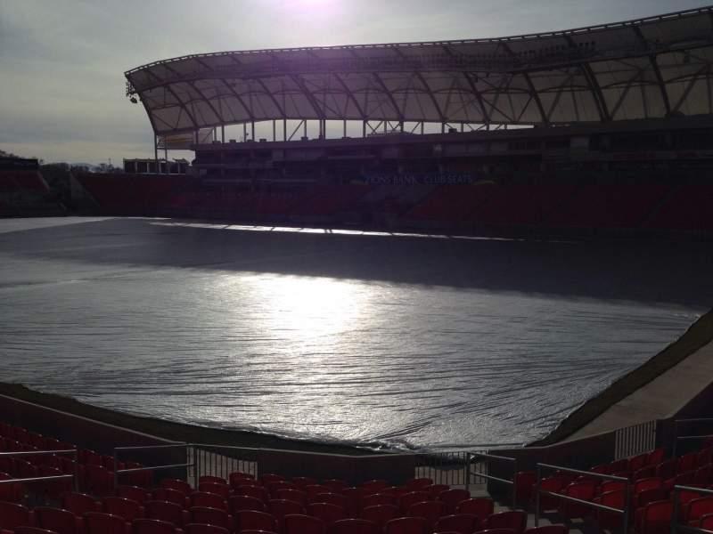 Seating view for Rio Tinto Stadium Section 33 Row p Seat 10