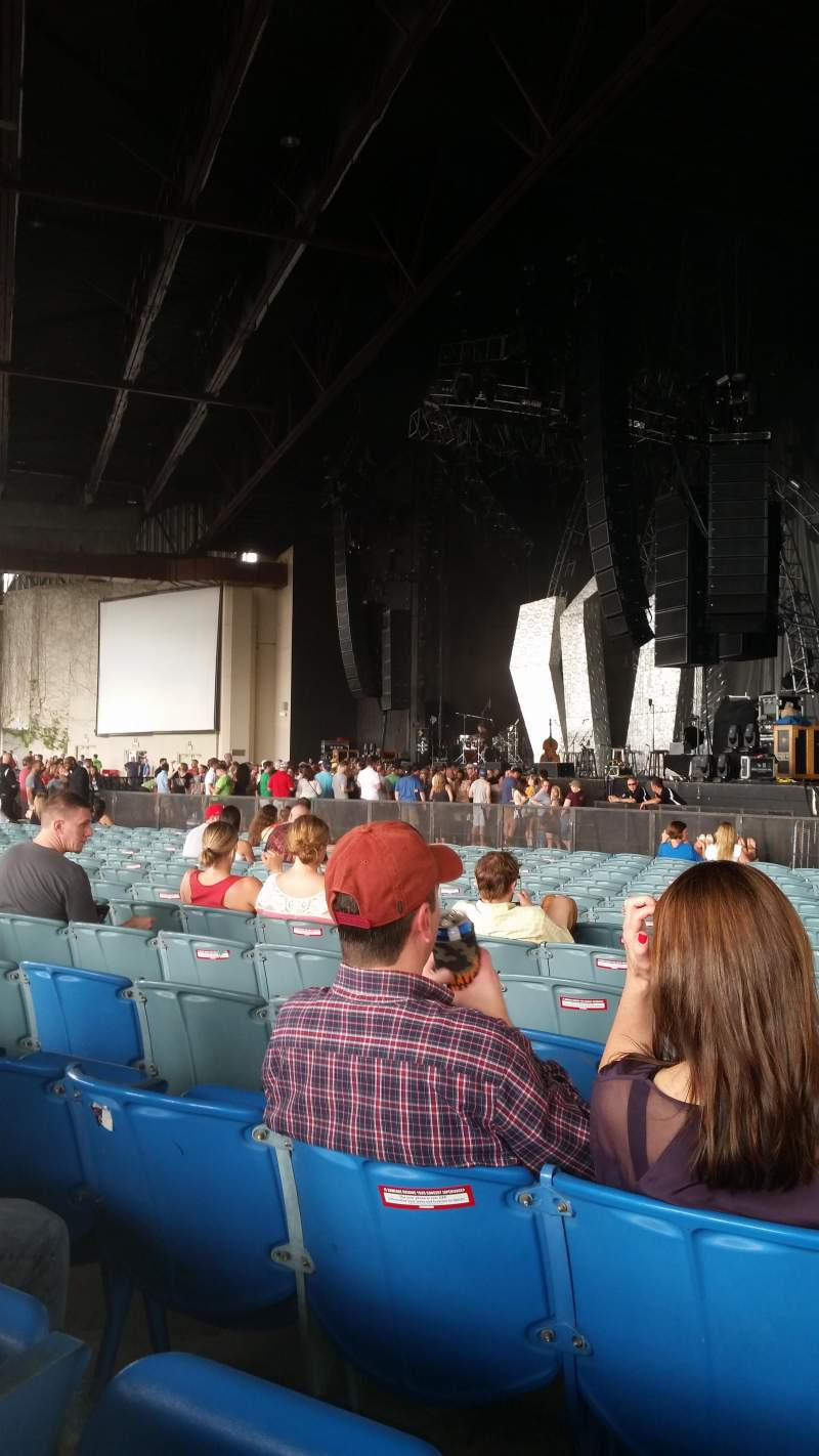 Seating view for Starplex Pavilion Section 100 Row Y Seat 3and4