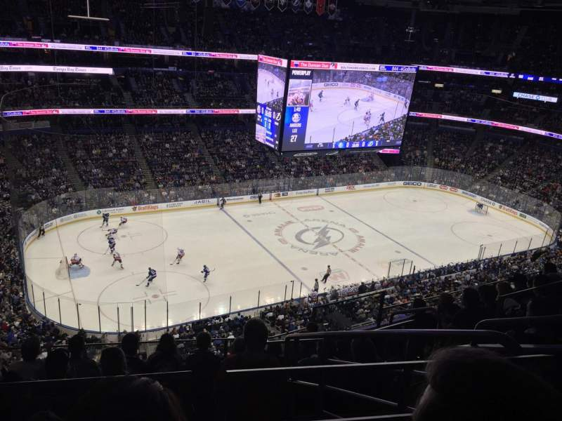 Seating view for Amalie Arena Section 304 Row G Seat 3