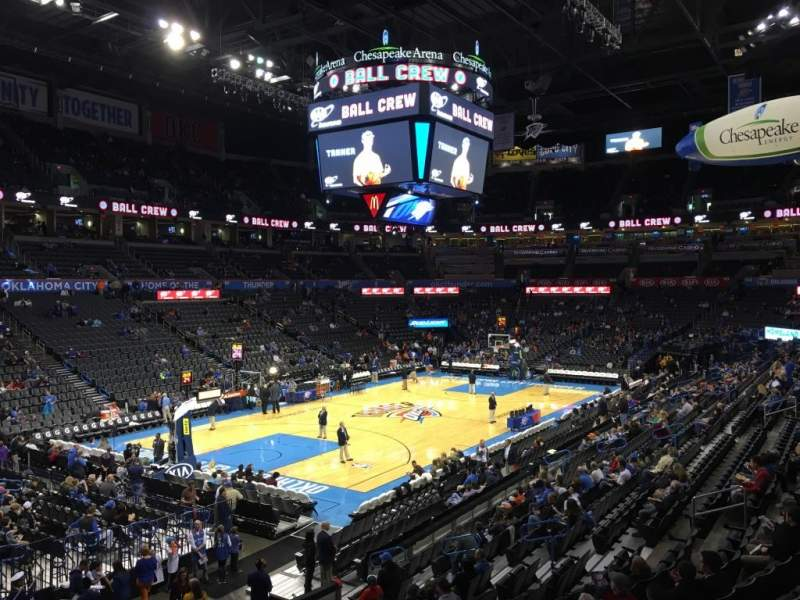 Seating view for Chesapeake Energy Arena Section 109
