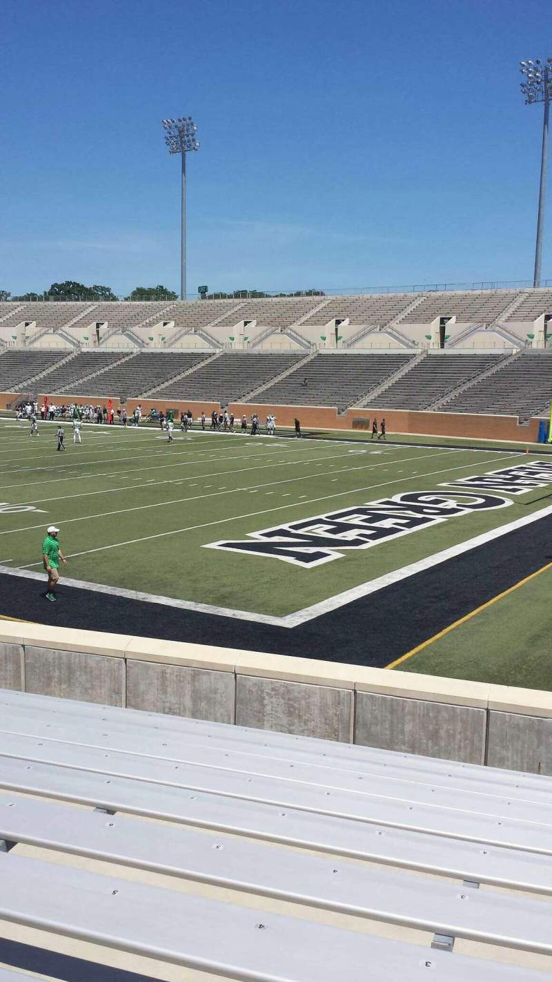 Seating view for Apogee Stadium Section 101 Row 13 Seat 1