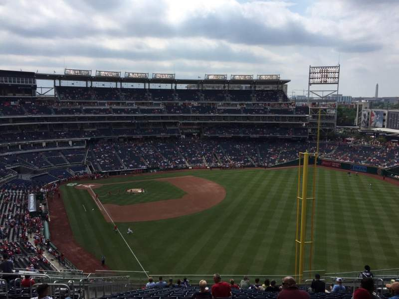 Seating view for Nationals Park Section 232 Row X Seat 12