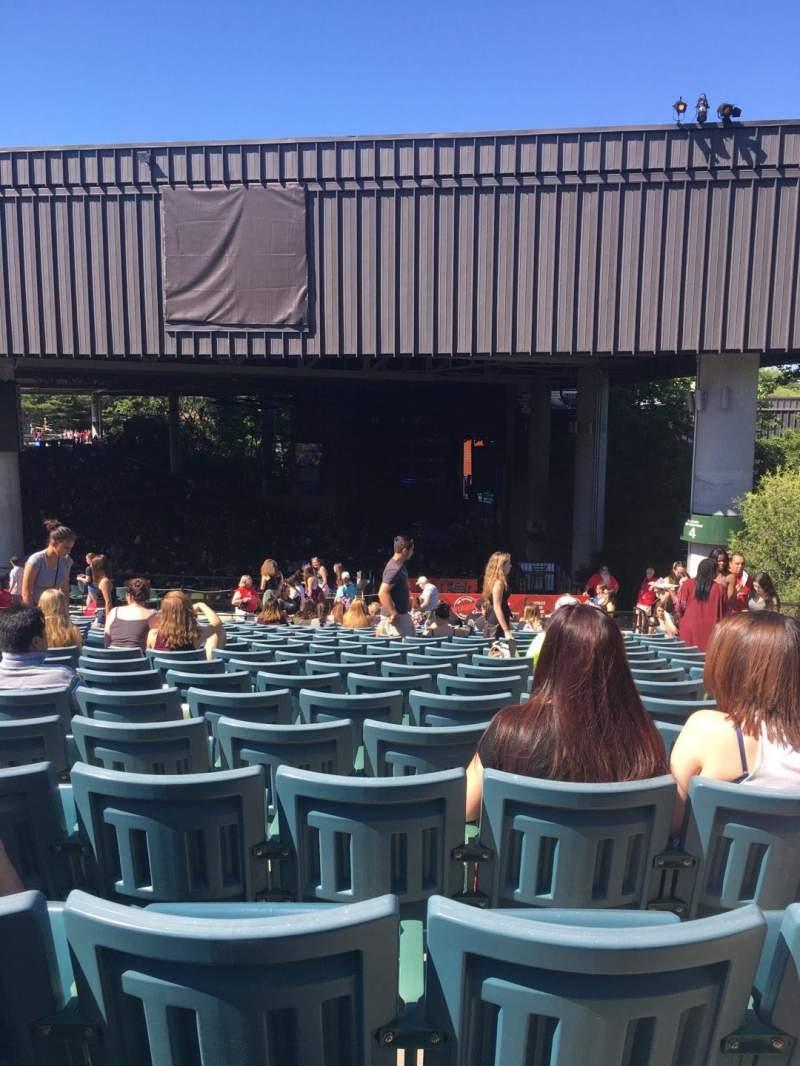 xfinity center, section 9, row t, seat 3 - kiss 108 tour: kiss 108