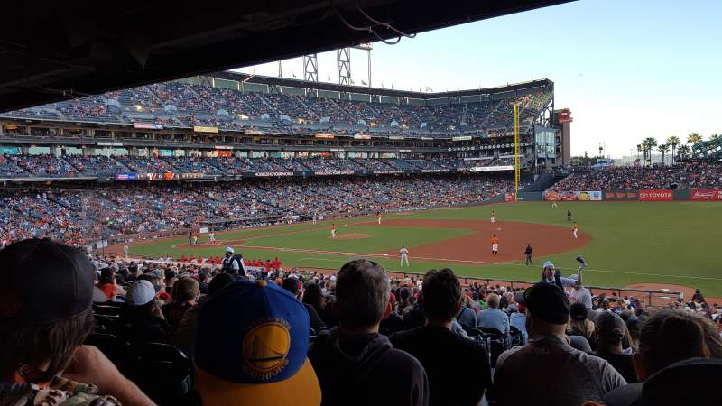 Seating view for AT&T Park Section 104 Row 36 Seat 14