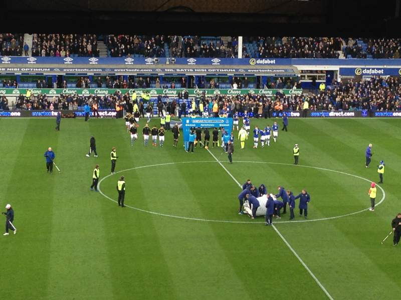 Goodison Park, section: upper bullens 3, row: n, seat: 145