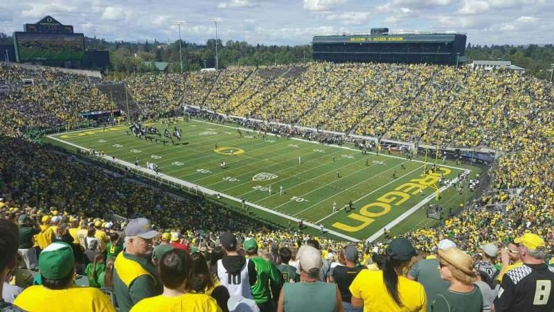 Autzen Stadium Section 25 Row 74 Seat 40 Oregon Ducks Vs Uc