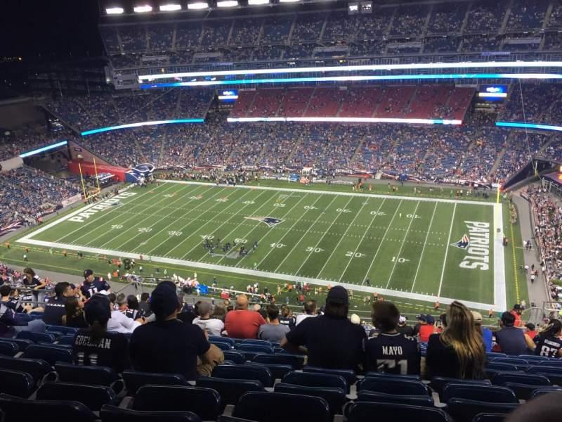 Gillette Stadium, section: 328, row: 22, seat: 9