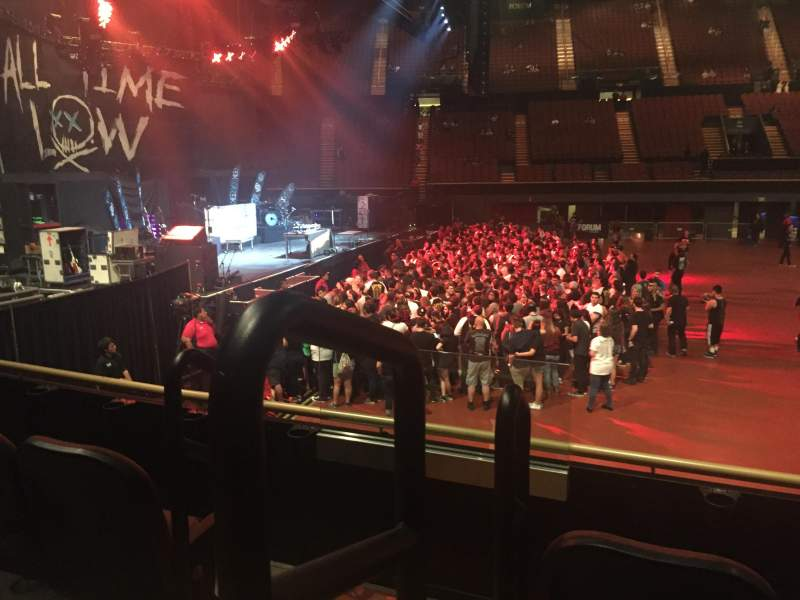 The Forum, section: 126, row: 3, seat: 7