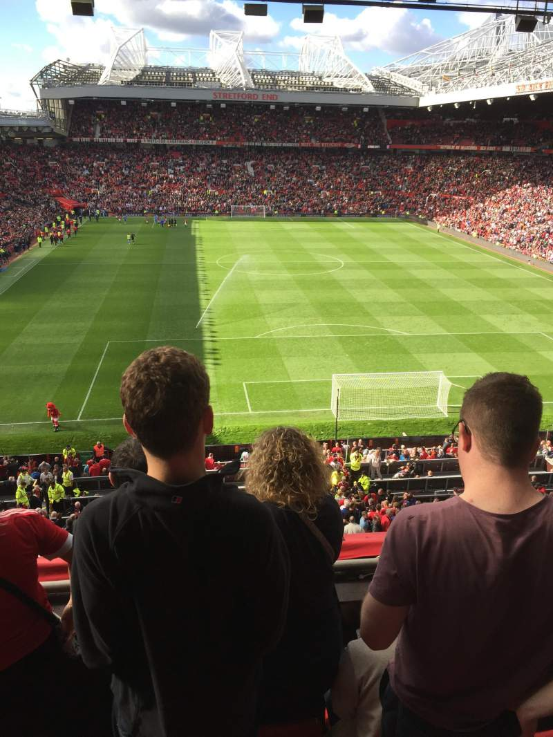 Seating view for Old Trafford Section E333 Row 4